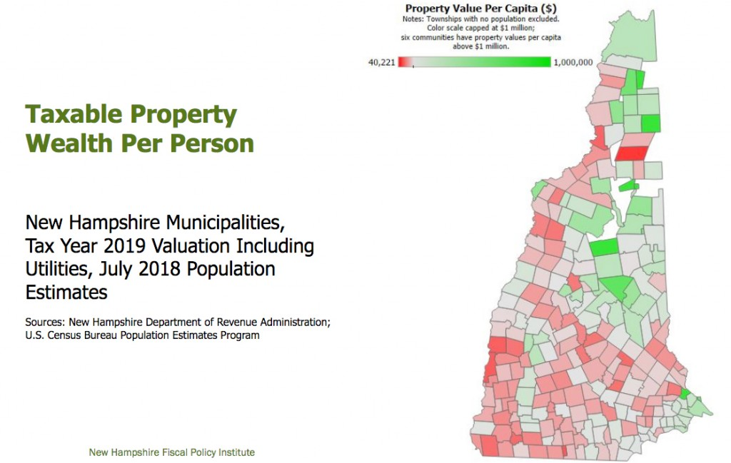 Taxable Property Wealth By Town