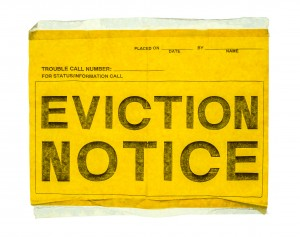 Isolated Eviction Notice