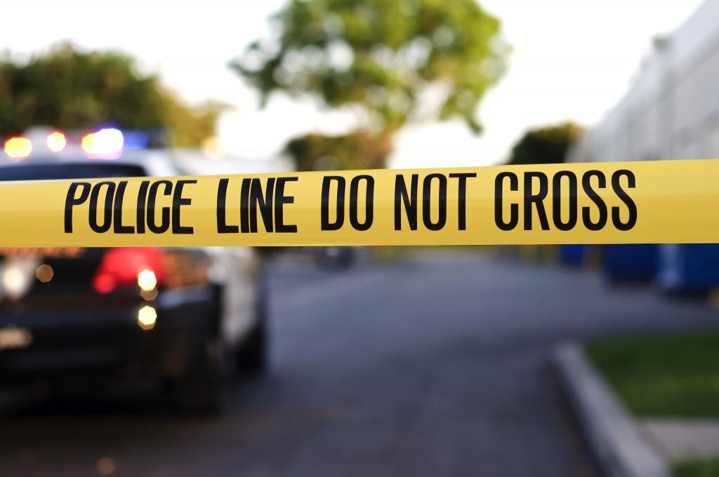 A Police Crime Scene Tape Close Up